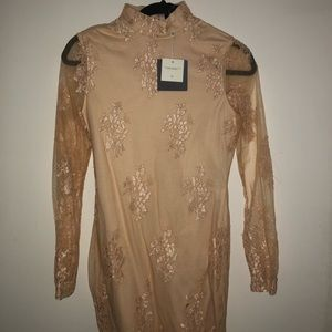 Missguided gold dress. Size US 2. Never worn.